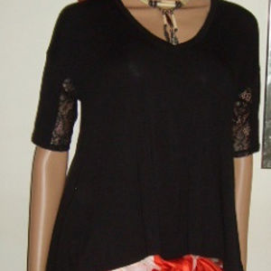 Top Cute Stretchy Black XS Hi Lo BCBGeneration